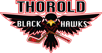 Logo for Thorold Black Hawks